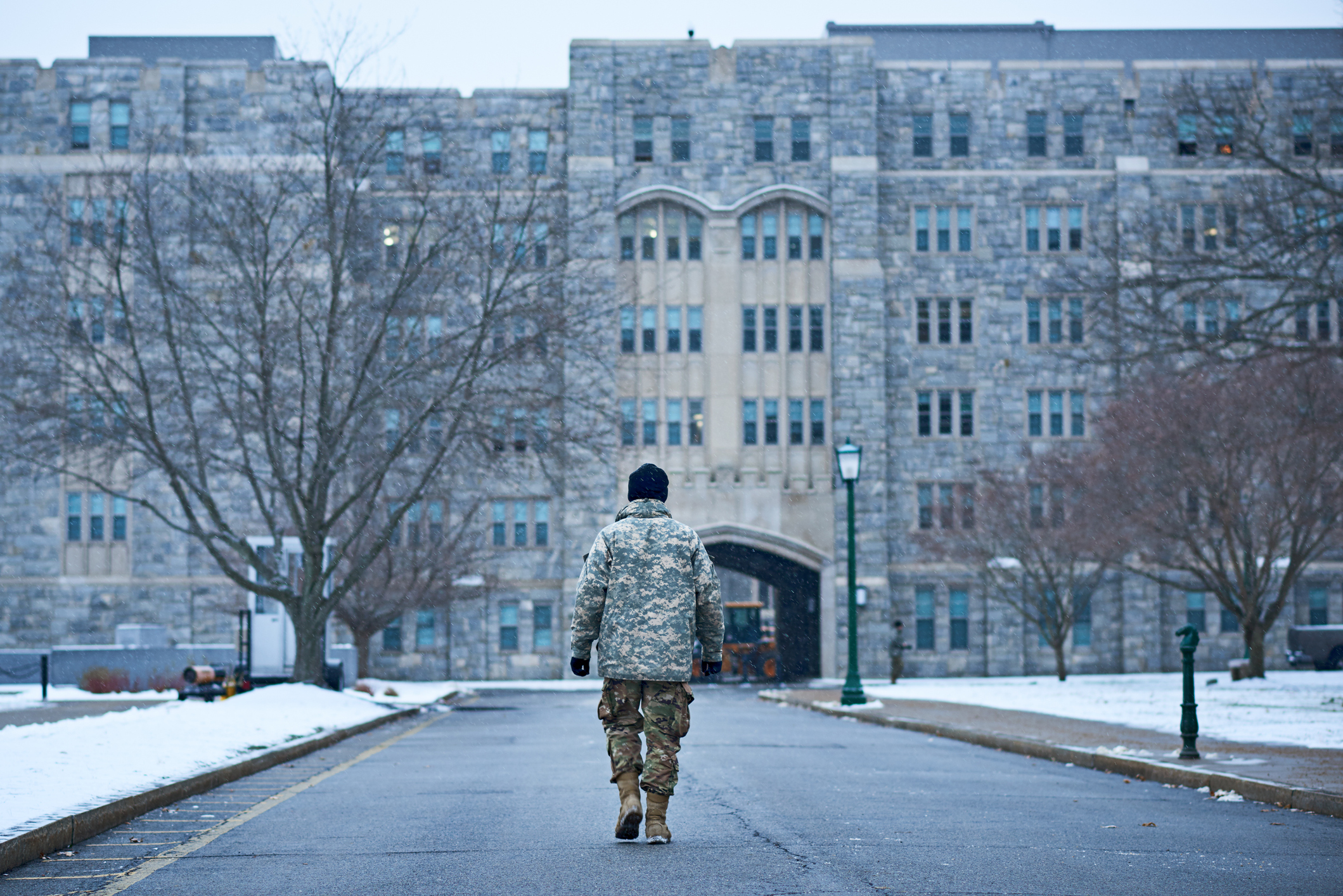 Studying for a law career after military service